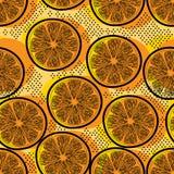 Klipp den orange sömlösa modellen Arkivfoto