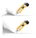 klipp den paper wallpaperen för kniven Stock Illustrationer