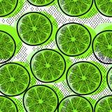 Klipp den sömlösa modellen för limefrukter Royaltyfri Bild