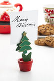 Klipp der geformten Anmerkung des Weihnachtsbaums Lizenzfreies Stockfoto