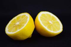 Klipp en ny citron royaltyfri fotografi