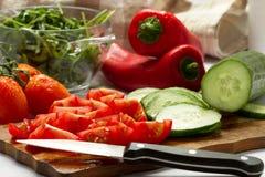 klipp grönsaker Royaltyfri Foto