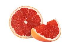Klipp grapefruktfrukter på vit bakgrund Royaltyfri Fotografi