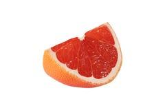Klipp grapefruktfrukter på vit bakgrund Royaltyfri Foto