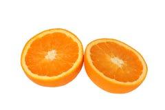 klipp half apelsiner två Arkivbild
