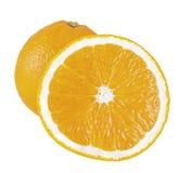 klipp hela apelsiner Fotografering för Bildbyråer