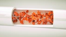 Klipp igenom en artär - tolkningen 3D stock illustrationer