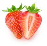 klipp isolerade jordgubbar Arkivbild