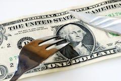 klipp kostnader som pengar sparar något till upp Royaltyfria Foton