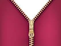 Klipp-Kunst des Reißverschlusses auf Jacke Stockbild