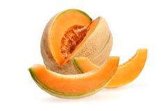 klipp melonen royaltyfria bilder