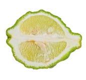 klipp ny limefrukt Arkivbild