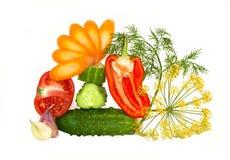 klipp nya övre grönsaker Arkivbild