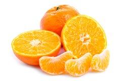 klipp nya fruktskivatangerines Royaltyfri Bild