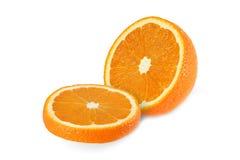 Klipp orange frukter som isoleras på vit bakgrund Royaltyfria Foton