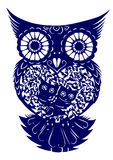 klipp owlpapper stock illustrationer