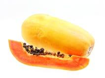 Klipp papayafrukter Royaltyfri Fotografi