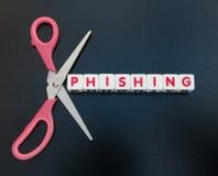 Klipp phishing ut Arkivbild