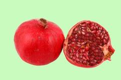 klipp pomegranaten arkivfoto