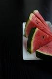 Klipp stycken av vattenmelon Fotografering för Bildbyråer