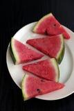 Klipp stycken av vattenmelon Royaltyfri Foto