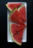 Klipp stycken av vattenmelon Arkivfoton