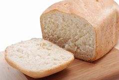 Klipp stycket av bröd Royaltyfri Bild