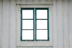 Klipp ut fönsterrutor i ett gammalt fönster Arkivbilder