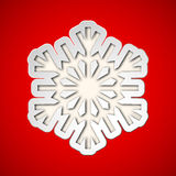 Klipp ut julsnowflaken Royaltyfri Foto