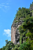 Klippa av berget, Fujian, Kina royaltyfri foto