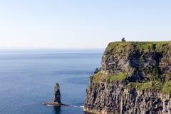 Klippa av den Moher sikten - Irland Fotografering för Bildbyråer