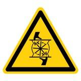 Klippa av fingrar som roterar bladsymboltecknet, vektorillustration, isolat p? den vita bakgrundsetiketten EPS10 royaltyfri illustrationer