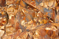 Klippa av sedimentära stenar royaltyfri foto