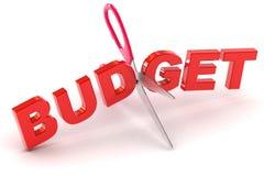 Klippa budgeter vektor illustrationer