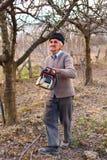 klippa för trees för äpplebonde gammalt Fotografering för Bildbyråer