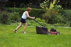klippa gräs Royaltyfri Bild