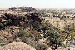 Klippa i Bandiagara, Mali, Västafrika Royaltyfria Foton