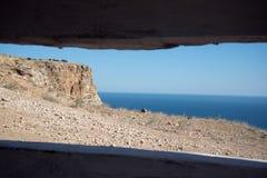 Klippa längs ett hav Royaltyfria Bilder