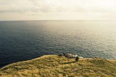 klippa med seascapes Arkivfoton