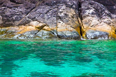 Klippa och hav Royaltyfri Fotografi