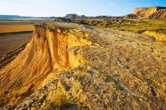 Klippa på ökenlandskapet av Navarra Royaltyfri Fotografi