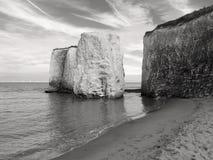 Klippa på en sjösida Arkivfoto