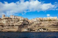 Klippa-sida stad av Bonifacio Royaltyfri Foto