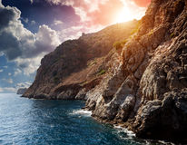 Klippa vid havet Royaltyfria Foton