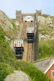 Klippabergbana på Hastings england Royaltyfria Foton