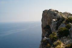 Klippabildande på den Mallorca ön Arkivbild