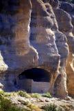 klippaboningar gila Arkivbilder