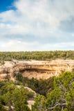 Klippaboningar i Mesa Verde National Parks, Co, USA Fotografering för Bildbyråer