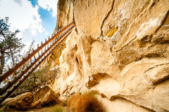 Klippaboningar i Mesa Verde National Parks, Co, USA Royaltyfria Bilder