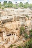 Klippaboningar i Mesa Verde National Parks, Co, USA Arkivbild